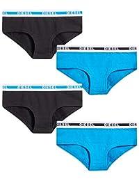 Diesel 女童柔软棉质低腰内裤(4 条装)