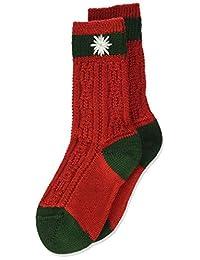 Lusana 男孩及膝袜儿童袜子双色,刺绣