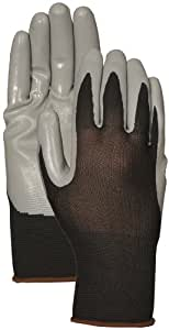 3 Pack Black Seamless Nylon Knit With Gray Nitrile Palm (Large)