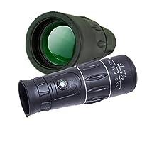 JHOPT炫彩高倍单筒望远镜18X50黑色 宽带绿膜 大目镜孔 高倍高清 微光夜视 便携 合适旅游 看演唱会 带指南针