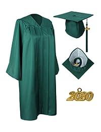 GraduationService 男女通用毕业哑光礼服带流苏 2018 包装