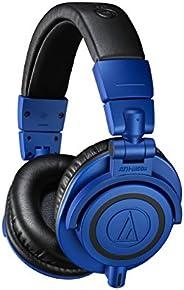 Audio-Technica 铁三角 ATH-M50xBB 特别版专业监听耳机,蓝色和黑色