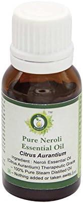Neroli 精油 | 柑橘 | 皮肤 | 身体 | 按摩油 | * * | 蒸汽蒸馏 15ml (0.507 Ounce)