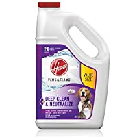 Hoover 胡佛爪和爪子深层清洁地毯洗发水,浓缩机器清洁剂,适用于宠物,128盎司*,AH30933,白色