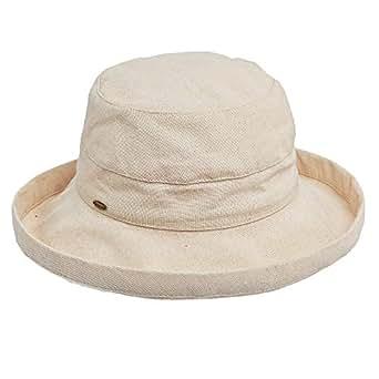 Scala 女式中帽檐棉帽 Linen One Size