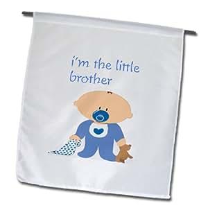3dRose fl_162928_1 男婴和小兄弟花园旗,30.48 x 45.72 cm