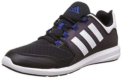 adidas kids 阿迪达斯童鞋 RELAXED SPORTY 男童 s-flex k 跑步鞋 AQ3838 一号黑/FTWR 白/学院蓝 内长:200mm (UK 1)