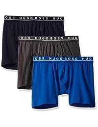 HUGO BOSS 男式弹力棉平角内裤3对装