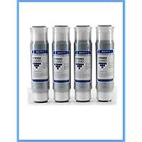 全屋滤水器,兼容 3M Aqua-Pure AP117 饮用水系统,Whirlpool WHKF-GAC 用于氯、污垢和生锈,4 件装