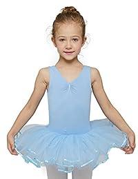 MDN 女童背心芭蕾舞紧身连衣裤