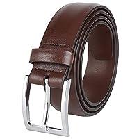 Savile Row 男式皮带 35 毫米 1.38 英寸宽黑色棕色和双面两面可穿