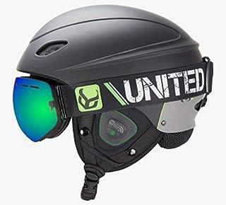 Demon United 幻影头盔,带音频和雪天 Supra 护目镜