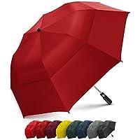 EEZ-Y 58 英寸便携式高尔夫伞大防风双层伞篷 - 自动开大尺寸雨伞