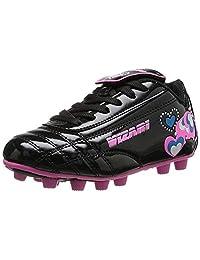 Vizari Retro Hearts FG 足球鞋(幼儿/小童) Black/Pink/Blue 4.5 Big Kid