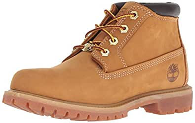 Timberland Women's Nellie Double WP Ankle Boot,Wheat Yellow,5 M US