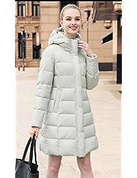 UAISI90% 白鹅绒女新款超轻加厚中长+超长羽绒大衣连帽宽松保暖鹅绒服外套(配压缩袋)