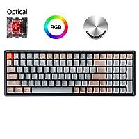 K4 RGB 背光無線藍牙/USB 有線游戲機械鍵盤鋁制框架 適用于 Mac Windows