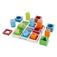 Melissa & Doug 形状序列木制分类套装和教育玩具