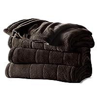 Sunbeam Microplush Heated Blanket, Twin, Walnut, BSM9BTS-R470-16A00