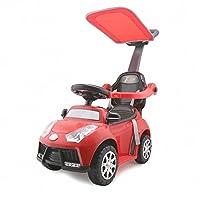 A+B 三合一学步车 多功能带护栏手推车 儿童可坐滑行车助步车童车 7835红色带敞篷