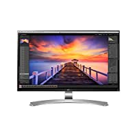 LG 27UD88 27英寸4K UHD IPS Infinity显示器(3840x2160,2x HDMI,DP,USB-C,高度可调) 白色