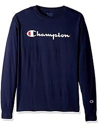 Champion 男式 经典针织图案长袖T恤