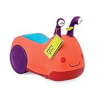 B Toys - Buggly Wuggly 骑行玩具(有灯光和声音)- 不含双酚 A - 儿童骑行玩具带储物空间,适合幼儿和 12 个月以上宝宝