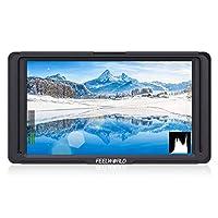 Feelworld F5 5 5 英寸 4K HDMI IPS 1920x1080 高分辨率摄像机现场监视器,带历史记录、聚焦、假色、数码单反相机像素 DE