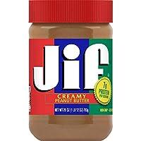 Jif Creamy 花生酱,28 盎司(约 793.8 克)(10 罐装)