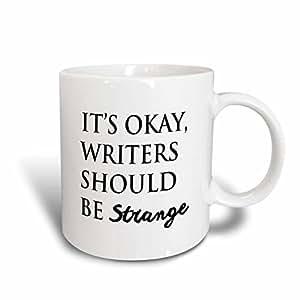 3dRose Tory Anne 系列引言 - ITS OKAY, 作家应该做的格子 - 马克杯 白色 15盎司 mug_224524_2