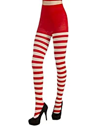CHRISTMAS STRIPED TIGHTS-RD/GN
