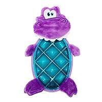Outward Hound 泡泡 Palz 恐龙狗玩具 - 多纹理发声垫带多个发声器 紫色 MD