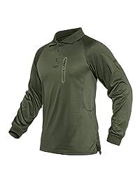 CRYSULLY 男式军装衬衫 - 战术套头长袖*战斗 Polo 衫
