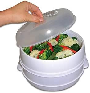 Handy Gourmet 2 层微波蒸笼 白色 2 tier 83-5001V