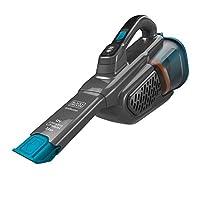 Black+Decker BHHV315J锂离子吸尘器,12伏,20AW电池手持吸尘器,带可伸缩缝隙吸嘴和充电线,无袋,无线吸尘器 - 钛合金 Titanium/Blau BHHV320B-QW