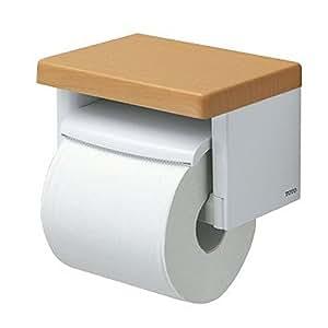 Toto 卷纸卷纸架【 yh501fm 】树脂制(内格带木制 )  ミルベージュ