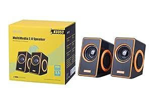 MTK K3353 2.0 10 W 扬声器带 3.5 mm 插孔和 USB - 黑色/蓝色-PK3353