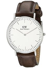 Daniel Wellington 丹尼尔•惠灵顿 瑞典品牌 Classic系列 银色表圈表扣 石英手表 男士腕表 DW00100023(原型号0209DW)