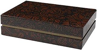 谷口松雄堂 小物件收纳袋 薄纸 文具盒 茶色