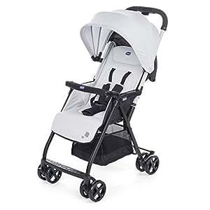 意大利 Chicco 智高 便携式婴儿推车 OHlalà欧拉拉 轻便折叠 灰色(适合0-3岁 车重仅3.8kg 5点式安全带 随车配防雨罩)