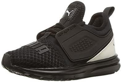 PUMA 中性款儿童 Limitless Ac Ps 运动鞋 黑色/白色 13.5 Little Kid