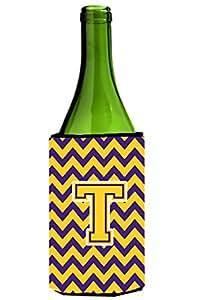 字母 T V 形花纹紫色和金色*饮料隔热器适用于纤薄罐 CJ1041-TMUK