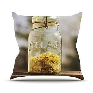 Kess InHouse Angie Turner Jar of Sunshine 乡村室内/室外抱枕 20 in. 黄色 AT1021AOP04