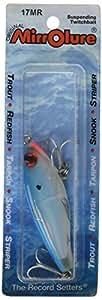 MirrOLure MirrOdine 鱼饵,电蓝色背/珍珠铃,6.35 厘米