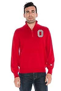 Alma Mater NCAA 俄亥俄州立大学七分袖拉链毛衣,3XL,猩红色