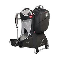 Osprey 中性 珀蔻珀玉版AG Poco AG Premium 39 黑色 均码 婴儿背架 城市户外徒步婴儿儿童背架反重力背负系统背板可调节带儿童安全带耐磨舒适带遮阳罩带娃出行必备 三年质保终身维修(两种LOGO随机发)