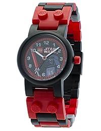 LEGO 乐高 星球大战 达斯维德 儿童 可搭造手表手链和人仔 | 黑色 / 红色 | 塑料 | 28毫米机体直径| 模拟石英 | 男孩女孩 | 官方
