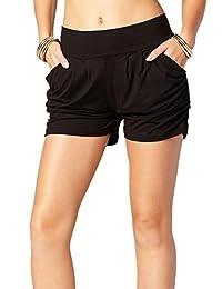 隐藏高级超柔软哈伦短裤 - 口袋 - 40 流行印花
