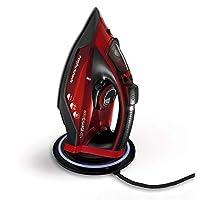 Morphy Richards 303250 无绳熨斗 easyCHARGE 360 强力蒸汽,2400 瓦,红色/黑色