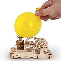 乌克兰桥木制 3D 发动机模型套件 - 气球气压气动活塞电机